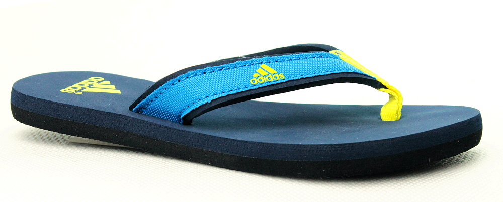 b7e546371c73b adidas Beach Thong K S75569, modré žabky, dětská obuv