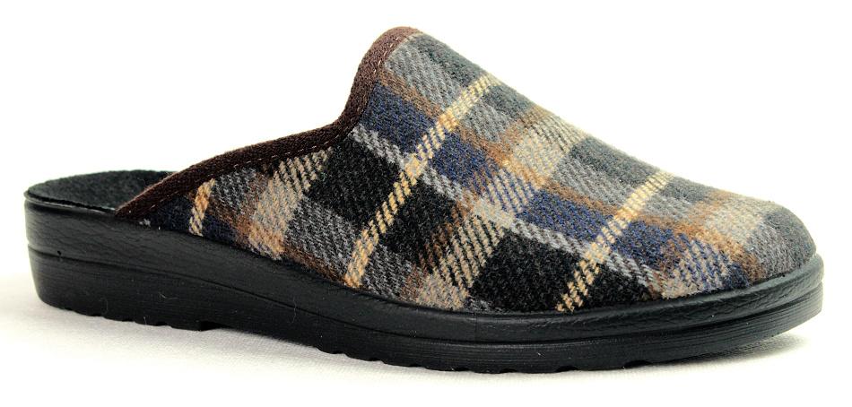 4ff3f8b82 INBLU MO-14 dark brown, pánská domácí obuv