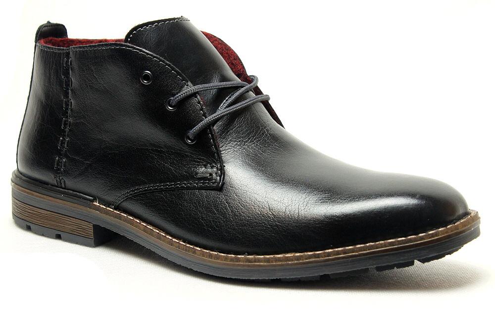 88f216e9afb81 RIEKER F1311-00 black, pánská zimní obuv