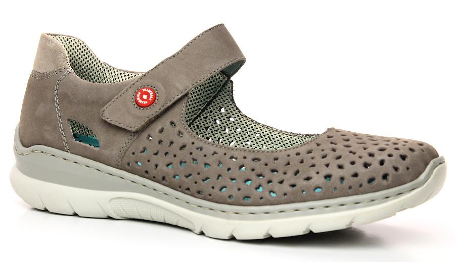 RIEKER L3255-44 grey, dámská obuv vel.36 44ecde79e0