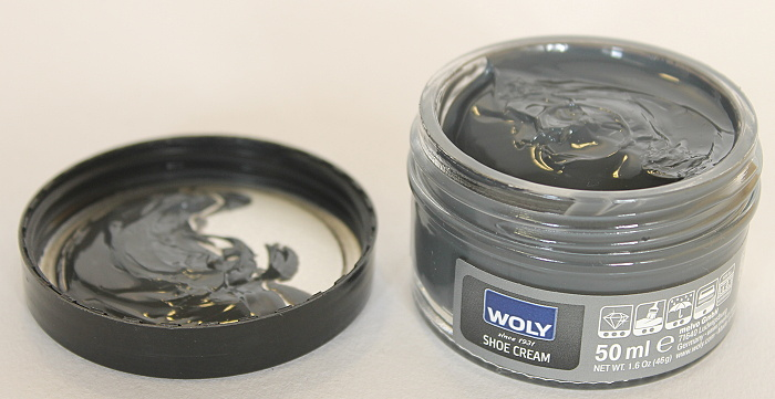 WOLY shoe cream 50ml - krém na obuv dark grey