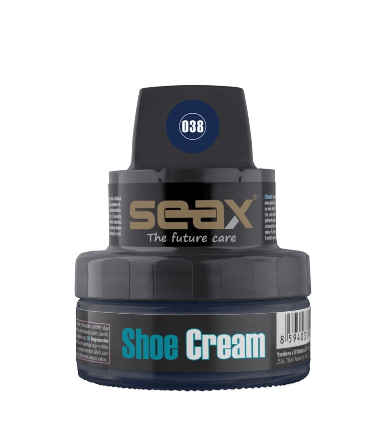 SEAX Shoe Cream, krém na obuv modrý (navy blue) 50ml