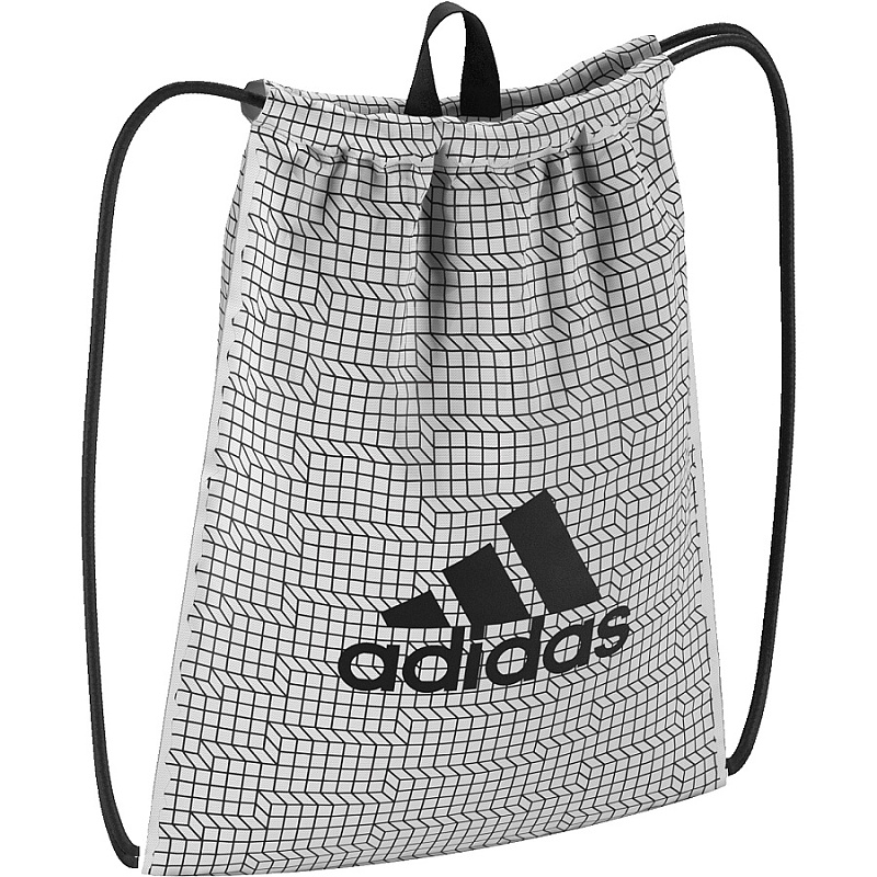 adidas BRUSHED GYM BAG S99654 white/black, vak na záda