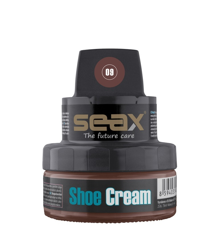 SEAX Shoe Cream, krém na obuv hnědý (mid brown) 50ml