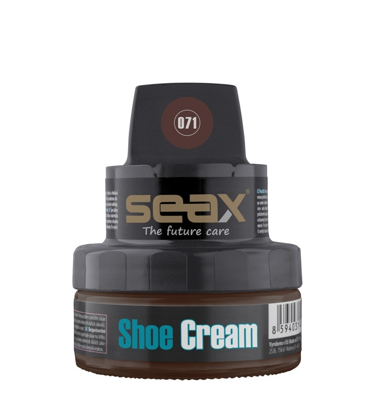SEAX Shoe Cream, krém na obuv hnědý (chocolate) 50ml