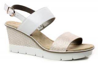 fb2d23a80ed32 RIEKER 68542-31 rosa, dámské sandály
